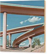 New Mexico Albuquerque Interstate Wood Print