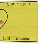 New Mexico State License Plateai Wood Print