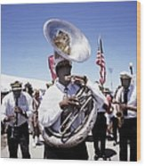 New Orleans Marching Band Wood Print