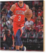New Orleans Pelicans V Houston Rockets Wood Print
