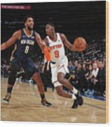 New Orleans Pelicans V New York Knicks Wood Print