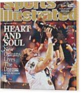 New Orleans Saints Qb Drew Brees, Super Bowl Xliv Sports Illustrated Cover Wood Print