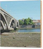new road bridge across river Tweed at Berwick-upon-tweed Wood Print