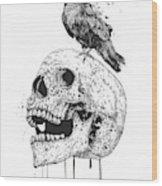 New Skull Wood Print