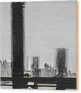 New York City From The Bridge #nyc #cityscape Wood Print