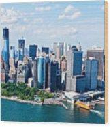 New York City Sky View Wood Print