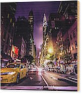 New York City Street Wood Print