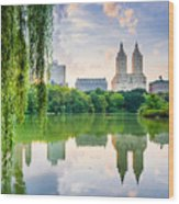 New York City, Usa At The Central Park Wood Print