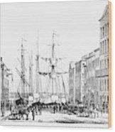 New York Docks, 1856 Wood Print
