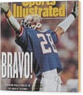 New York Giants Everson Walls, Super Bowl Xxv Sports Illustrated Cover Wood Print