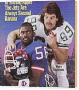 New York Giants Lawrence Taylor And New York Jets Mark Sports Illustrated Cover Wood Print