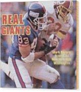 New York Giants Mark Bavaro... Sports Illustrated Cover Wood Print
