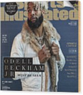 New York Giants Odell Beckham Jr., 2018 Fashionable 50 Issue Sports Illustrated Cover Wood Print