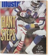New York Giants Ottis Anderson, 1991 Nfc Championship Sports Illustrated Cover Wood Print