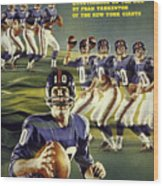 New York Giants Qb Fran Tarkenton Sports Illustrated Cover Wood Print