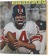 New York Giants Qb Y.a. Tittle... Sports Illustrated Cover Wood Print