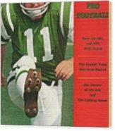New York Jets Jim Turner Sports Illustrated Cover Wood Print