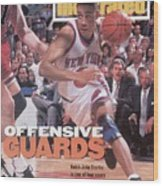 New York Knicks John Starks, 1994 Nba Eastern Conference Sports Illustrated Cover Wood Print