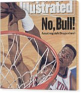 New York Knicks Patrick Ewing, 1993 Nba Eastern Conference Sports Illustrated Cover Wood Print