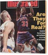 New York Knicks Patrick Ewing... Sports Illustrated Cover Wood Print