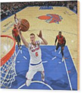 New York Knicks V Atlanta Hawks Wood Print