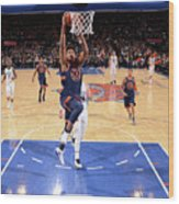 New York Knicks V Charlotte Hornets Wood Print