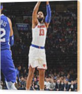 New York Knicks V Philadelphia 76ers Wood Print