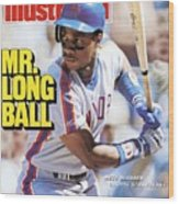New York Mets Darryl Strawberry... Sports Illustrated Cover Wood Print