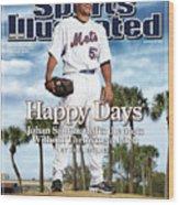 New York Mets Johan Santana Sports Illustrated Cover Wood Print