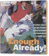 New York Mets John Cangelosi... Sports Illustrated Cover Wood Print