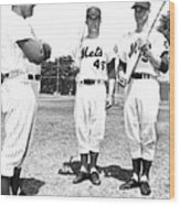 New York Mets Manager Wes Westrum Wood Print