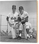 New York Mets Texas Battery Nolan Ryan Wood Print