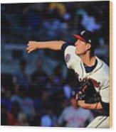 New York Mets V Atlanta Braves - Game Wood Print