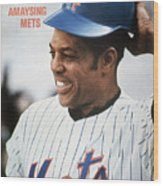 New York Mets Willie Mays Sports Illustrated Cover Wood Print
