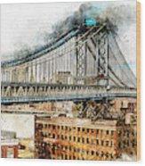 New York Panorama - 29 Wood Print