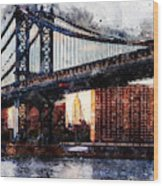 New York Panorama - 30 Wood Print