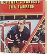 New York Rangers Goalie Ed Giacomin And Jean Ratelle Sports Illustrated Cover Wood Print