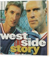 New York Rangers Mark Messier And Wayne Gretzky Sports Illustrated Cover Wood Print