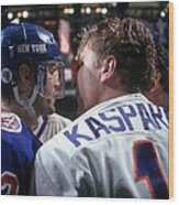New York Rangers V New York Islanders Wood Print