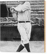 New York Yankees Babe Ruth Swinging His Wood Print