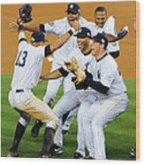 New York Yankees Celebrate 27th World Wood Print