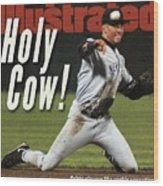 New York Yankees Derek Jeter, 1996 Al Championship Series Sports Illustrated Cover Wood Print