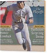 New York Yankees Derek Jeter, 2001 Al Division Series Sports Illustrated Cover Wood Print
