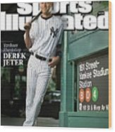 New York Yankees Derek Jeter, 2009 Sportsman Of The Year Sports Illustrated Cover Wood Print