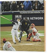 New York Yankees Hideki Matsui Hits Wood Print