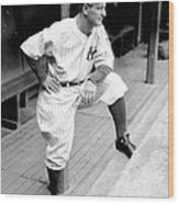 New York Yankees Lou Gehrig Wood Print