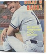 New York Yankees Manager Billy Martin Sports Illustrated Cover Wood Print
