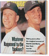 New York Yankees Mickey Mantle And Roger Maris Sports Illustrated Cover Wood Print