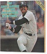 New York Yankees Reggie Jackson... Sports Illustrated Cover Wood Print