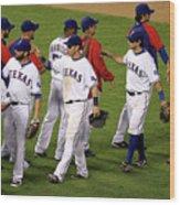 New York Yankees V Texas Rangers, Game 2 Wood Print
